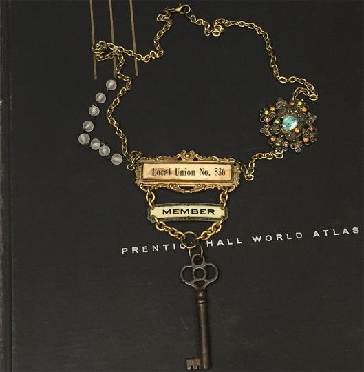 Antique statement necklace