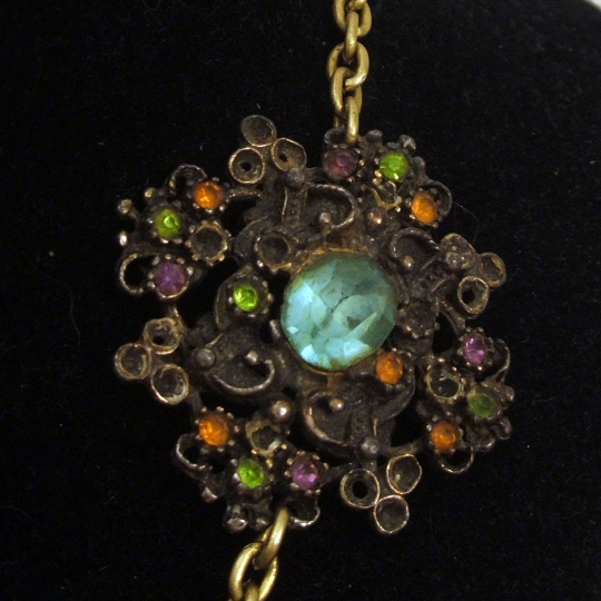 Antique Rhinestone Assemblage Necklace